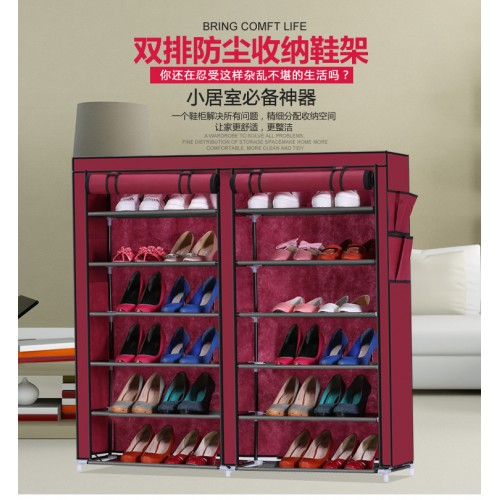 HCX Collapsible  Double Dustproof And Dampproof Shoe Wardrobe Storage Organizer