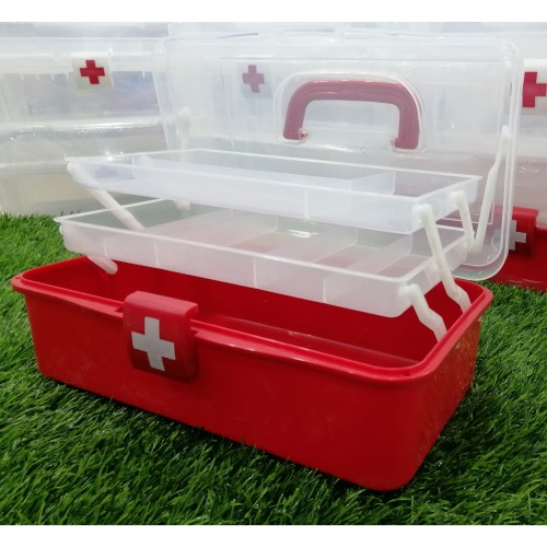 3 Layers Health Pill Chest Plastic Container Home Use First Aid Kit Large Capacity Medicines Box