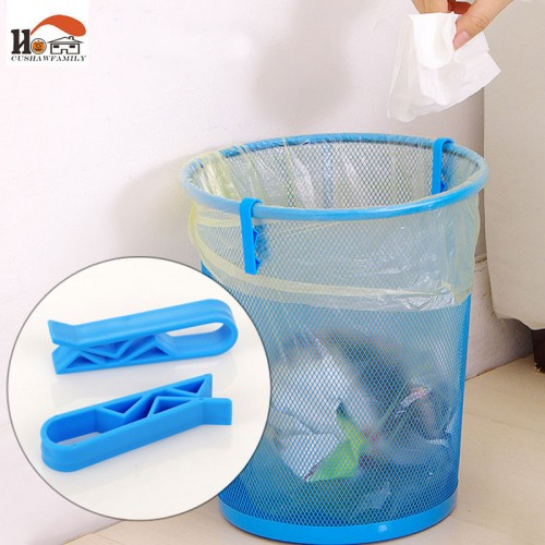 CUSHAWFAMILY 4pcs lot useful home organizer clip Dustbin Clamp Waste Bin Bag garbage bags non slip