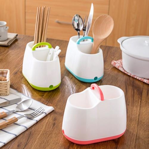 Home Kitchen Tableware Draining Rack Chopsticks Spoon Fork Storage Box Cutlery Holder Detachable Drainer Strainer