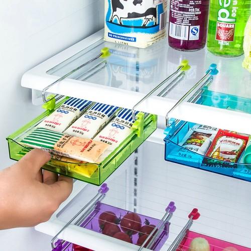 Kitchen Gadgets 4 color Portable Slide Kitchen Fridge Freezer Space Saver Organizer Storage Rack Shelf Holde
