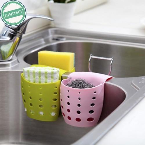 Kitchen Sink Storage Bag Basket Hanger Holder Bathroom Debris Storage Holder Sink Sponge Drainer Rack Basket