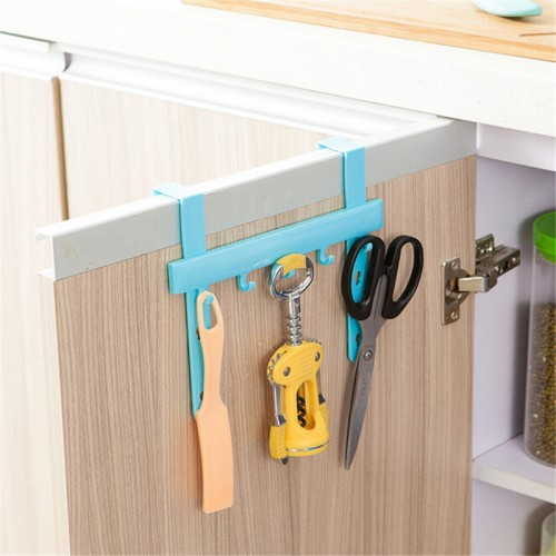 Organizer Blue Hanging Cupboard Door Over the Kitchen Cabinet Back Style Stand Trash Garbage Bags Storage