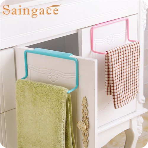 SAINGACE Storage Holders Towel Rack Hanging Holder Organizer Bathroom Kitchen Cabinet Cupboard Hanger u61018 rangement LE2