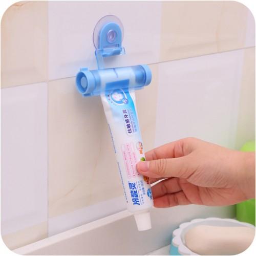 Toothpaste Dispenser Tube Partner Sucker Hanging Toothpaste Storage Rack Organizer Squeezer Random Color