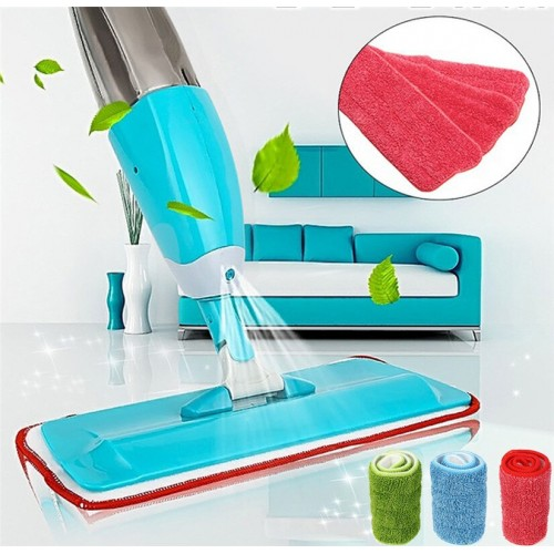 Household Flat Floor Mop Micro Fiber Spray Mop Cleaner Water Spraying Flat Mop Head Home Cleaning Tool