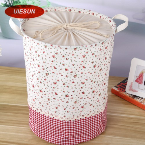 35x45cm Colorful Plaid Laundry Bag With Cover Cotton Washing Laundry Basket Dirty Clothing Bags Toy Storage