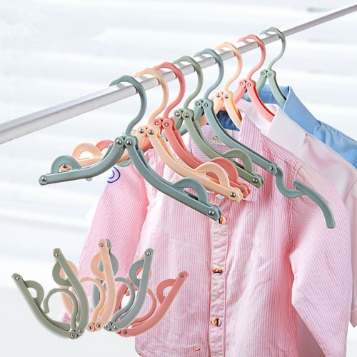 4 Colours 1PC Multifunction Foldable Plastic Travel Clothes Hanger Nonslip Protable Drying Rack Windproof