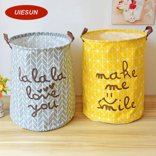 40x50cm Super Large Laundry Bag Cotton Linen Washing Laundry Basket Hamper Storage Dirty Clothing Bags Toy