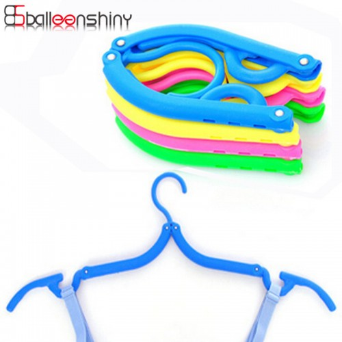 Folding Plastic Hangers With Hooks For Clothes Towel Organizer Laundry Hanger Rack Travel Outdoor And Home