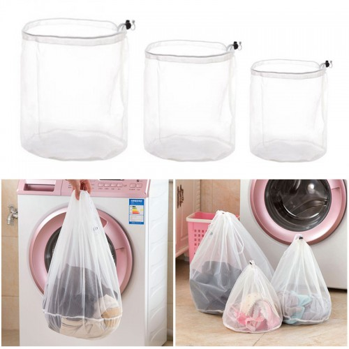 Thicken fine lines drawstring laundry bag clothing care wash fine mesh bags mesh bra underwear protective