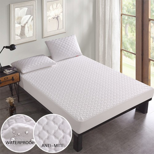 160x200CM Beautiful Jacquard Anti mite Waterproof Mattress Cover Breathable Bed Cover Mattress Topper for Bed Wet
