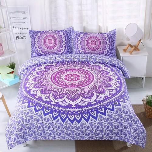 FANAIJIA bohemian duvet and bedding sets boho printed 3d Mandala 3pcs Pillowcase single double AU size