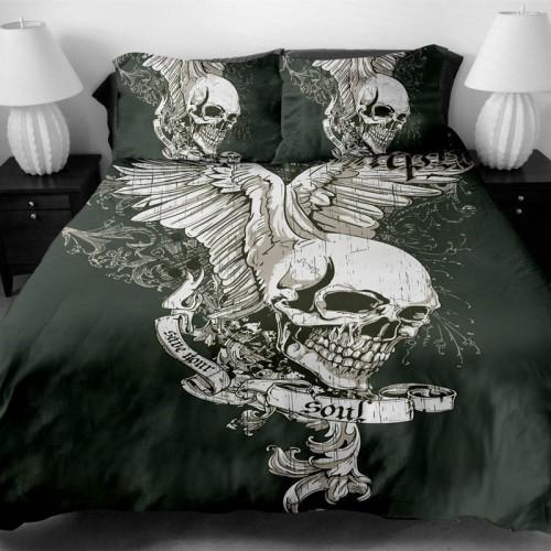Fanaijia skull Bedding Set King size Bohemian skull Print Duvet Cover set with pillowcase AU Queen