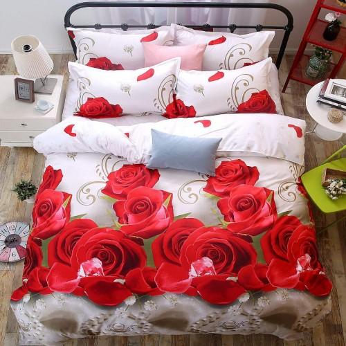 Home Textiles 3D Bedding Sets Cotton Leopard Grain Rose Panther Queen 4 Pcs Duvet Cover Bed