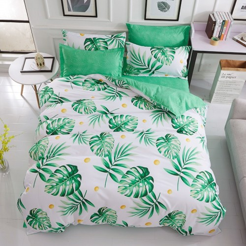 Refreshing series bedding sets birthday present Duvet Cover flat Bed Sheet linen pillowcase Soft Fashion
