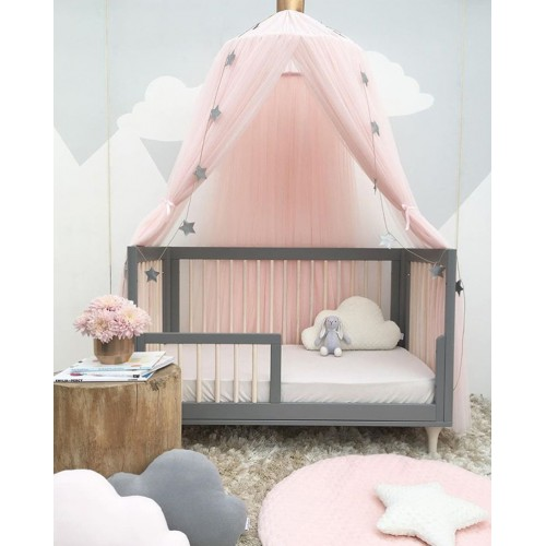 coxeer Kid Bedding Mosquito Net Romantic Round Bed Mosquito Net Bed Cover Pink Hung Dome Bed