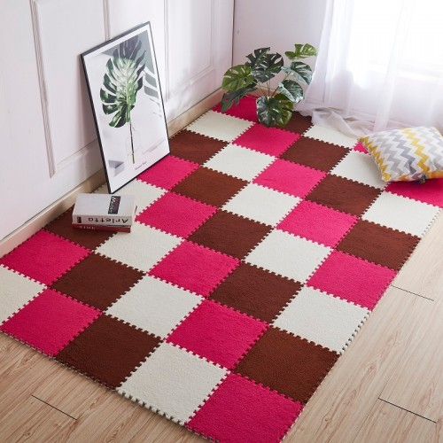 1pc 30 30cm Living Room bedroom Children Kids Soft Carpet Magic Patchwork Jigsaw Splice