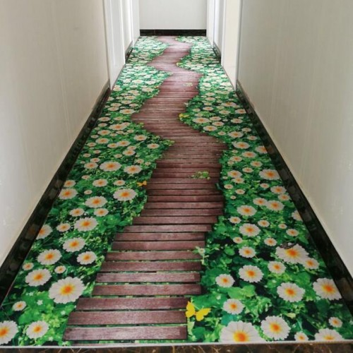 3D creative door mat plant carpet printing Hallway Carpets Bedroom Living Room Tea Table Rugs Kitchen