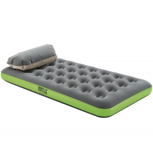 67619 Roll & Relax Air Mattress Twin With AirCinch Inflation Pump For Camping