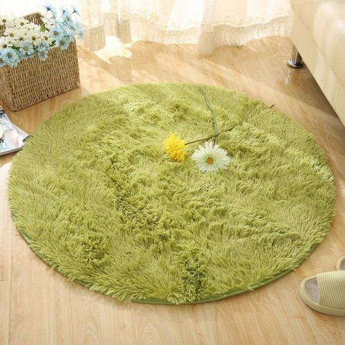 Fluffy Round Rug Carpets for Living Room Kilim Faux Fur Carpet Kids Room Long Plush rugs
