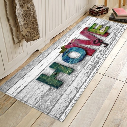 Home Door Entrance Mat Welcome Mats For Front Door Long Non Slip Kitchen Mat Decor Wood