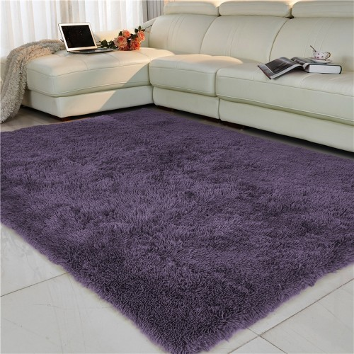 Living room bedroom Rug Antiskid soft 150cm 200 cm carpet modern carpet mat purpule white pink