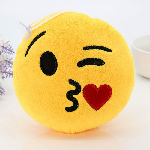 8 Styles Soft Emoji Cute Cushions Pillows QQ Facial Emotions Pillow Yellow Round Cushion Stuffed Plush