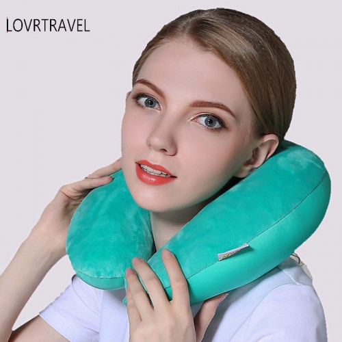 Luxury Neck Travel Pillows For airplane Sleep microbead Nap Neck Pillow Travel Massage Comfortable Road