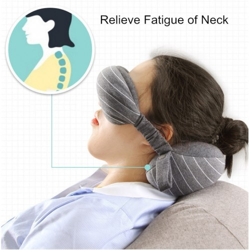 Multi Function Business Travel Neck Pillow Eye Mask Storage Bag with Handle Portable