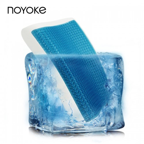 NOYOKE Memory Foam Pillow Cooling Gel Surface Breathable Softness Neck Support Pillow with Velvet Pillowcase