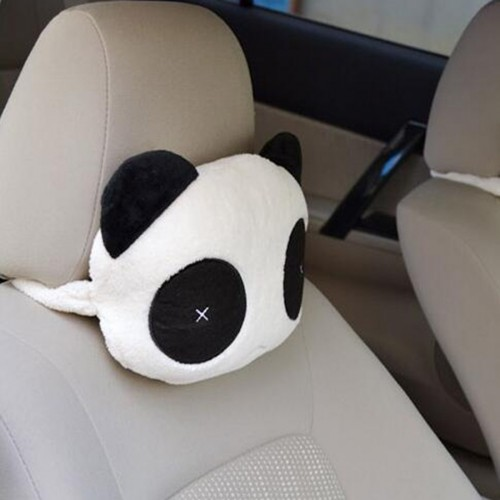 New Panda Plush Headrest Auto Seat Covers Head Neck Rest Cushion Cartoon Headrest Pillow Pad Supplies