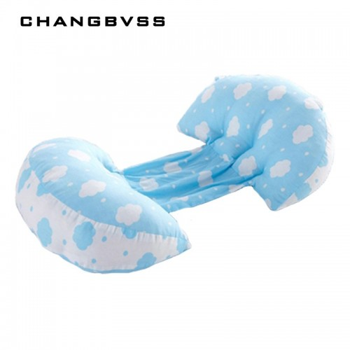 Simple Cloud Printed Pregnant Pillow For Side Sleepers Maternity Nursing Pregnancy Pillow Women Cotton Bedding Body