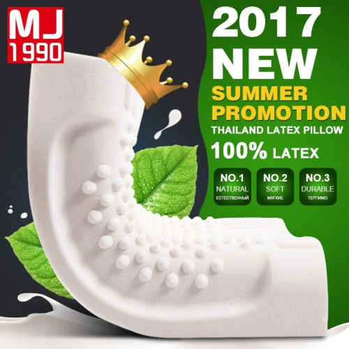 Thailand Import Natural Latex Cervical Vertebrae Health Care Orthopedic Massage Natural Latex Pillow Pillow Case