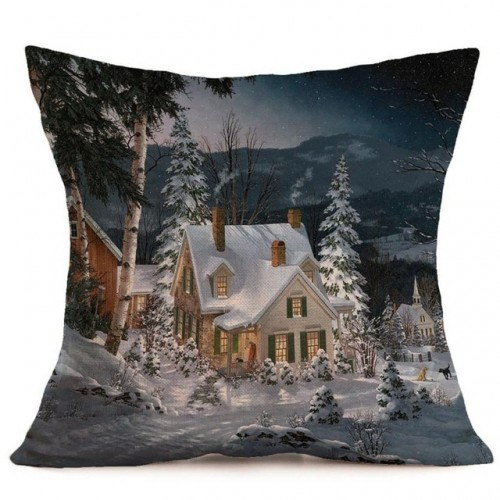 Printed Linen Pillow Case Decorative Pillows For Sofa Seat Cushion Cover 45x45cm