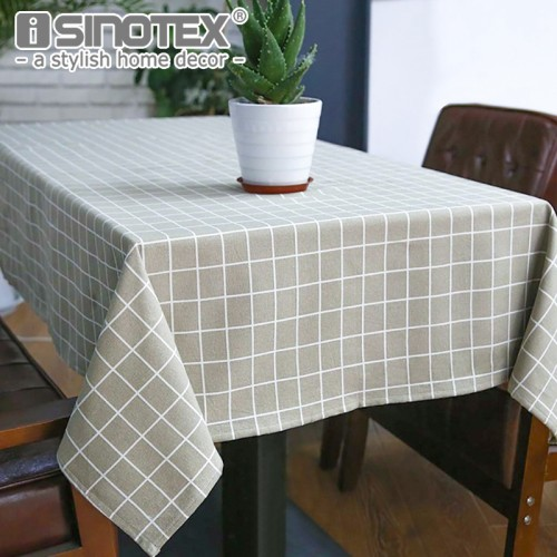 Sytlish Linen Table Cloth Country Style Plaid Print Multifunctional Rectangle Table Cover Tablecloth Home Kitchen Decoration