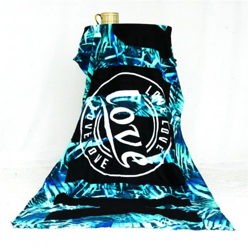 Fashion Soft Beach Towel 100 Cotton Summer Sandy Yoga Mat Green Leaves Towels Swimming Bath Towel