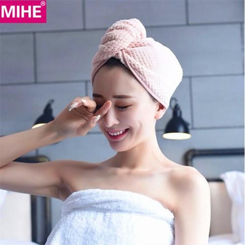 MIHE Lady s Dry Hair Towel Bathroom Soft Super Absorbent Quick drying Microfiber Bath Towel Hair