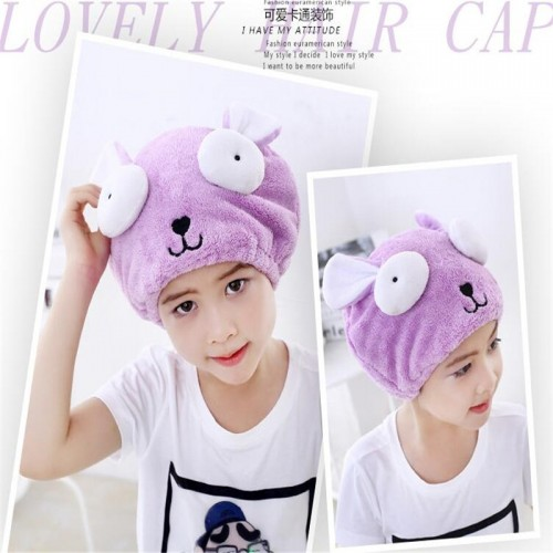 Soft Kid s Special Dry Hair Cap Towel Cute Bath Towel Hair Dry Hat Strong Absorbing