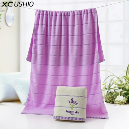 XC USHIO One Piece High Quality 100 Cotton 70 140cm Lavender Luxury Bath Towel Toallas de