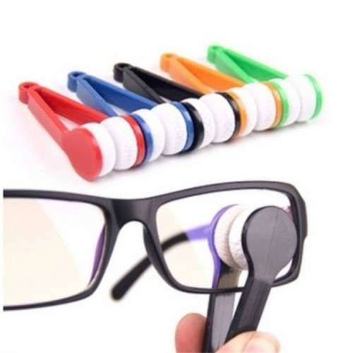 1PC New Microfiber Mini Sun Glasses Eyeglass Microfiber Brush Cleaner Cleaning Spectacles Tool Clean Brush.