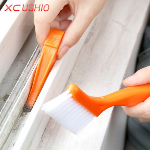 2 in 1 Multipurpose Window Groove Cleaning Brush Nook Cranny Household Keyboard Home Kitchen Folding Brush.