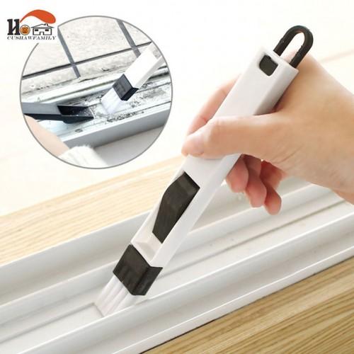 2 in 1 multi function window slot brush with dustpan screen keyboard drawer wardrobe corner gap.