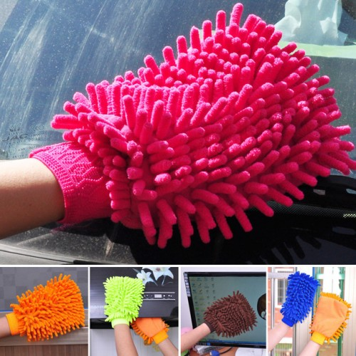 Chenille Gloves Clean Gloves Washing Towels Household Cleaning Helper Microfiber Cloth Cleaning Cloth.