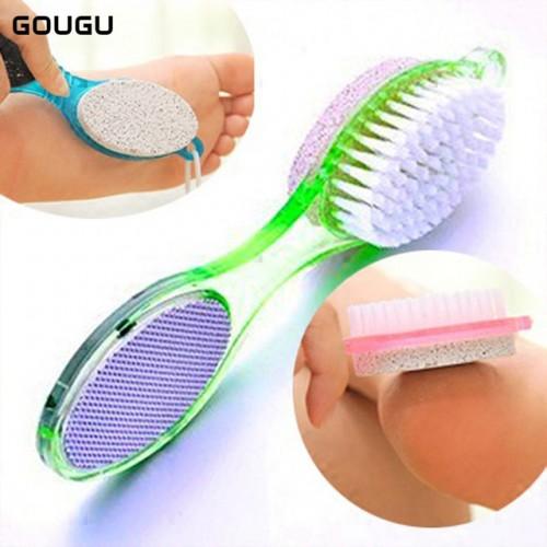GOUGU 4 In 1 Multi fuction Foot File Dead Hard Skin Scrubber Callus Brush Pumice Pedicure.