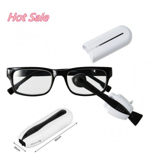 New Best Eyeglass Sunglass All In One Glasses Cleaner Brush Glasses Tool white with black.