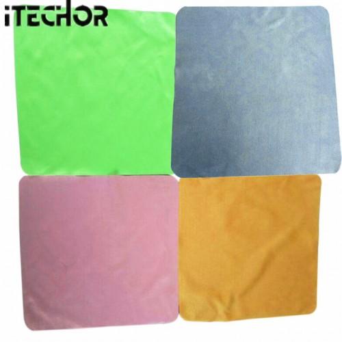 iTECHOR 4Pcs Large Microfiber Cleaning Cloth for Screens Lenses Glasses 20 20cm color random.