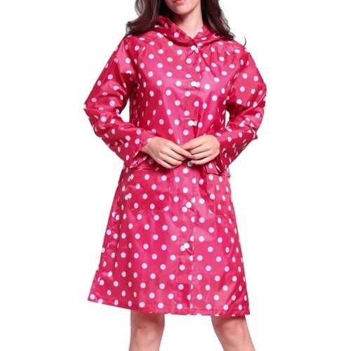 Dot Girl Lady Hooded Raincoat Women Outdoor Travel Waterproof Riding Cloth Rain Coat For Women Poncho