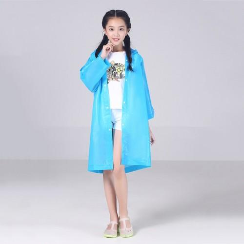 EVA Transparent Fashion Frosted Child Raincoat Girl And Boy Rainwear Outdoor Hiking Travel Rain Gear
