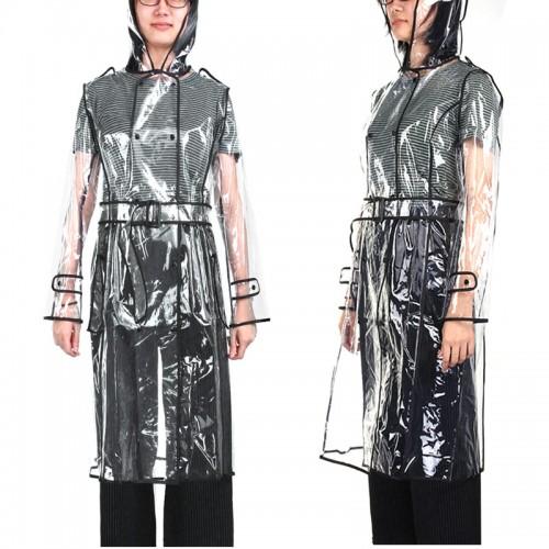 EVA Transparent Raincoat Long Raincoat for Women Waterproof Jacket Windbreaker Rain Poncho With Belt Outdoors capa
